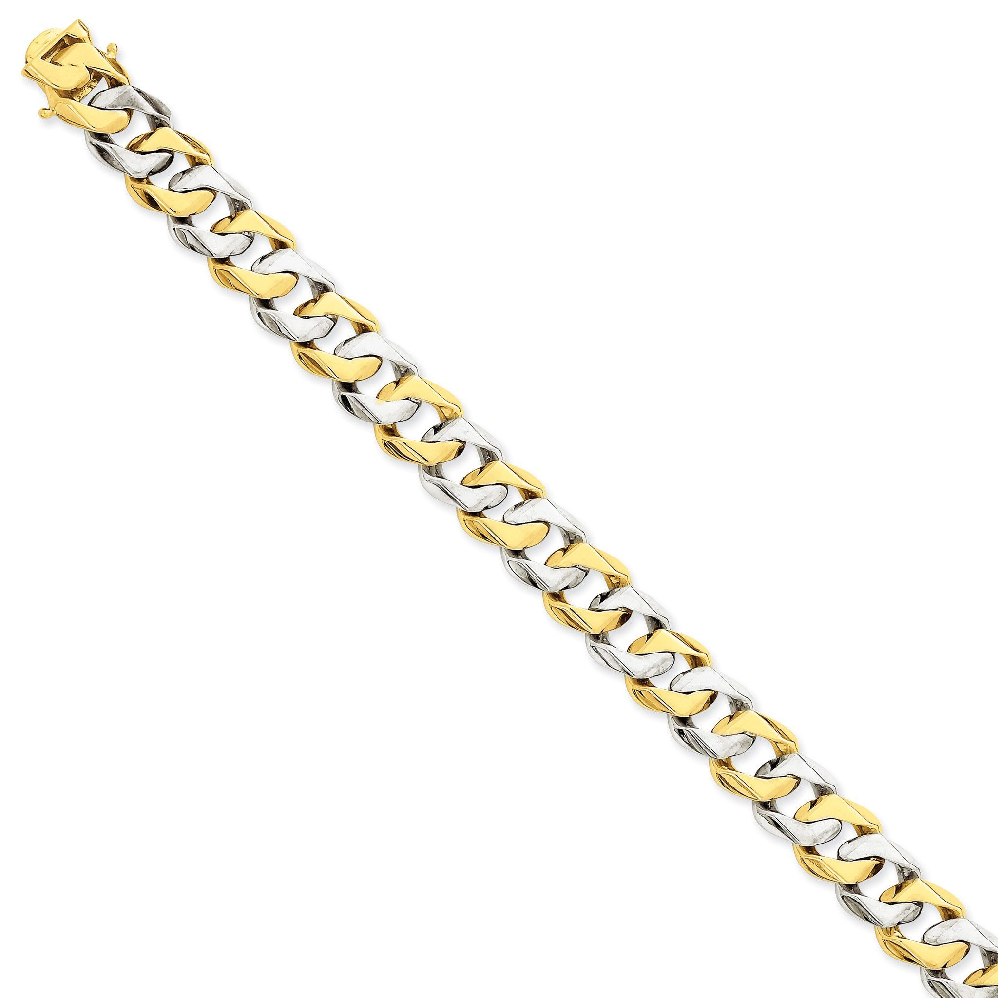 K twotone mm polished fancy link chain lk products