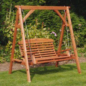 Swing Chair Garden Uk Zanui Desk Apex Luxury Wooden Seat Amazon Co Outdoors