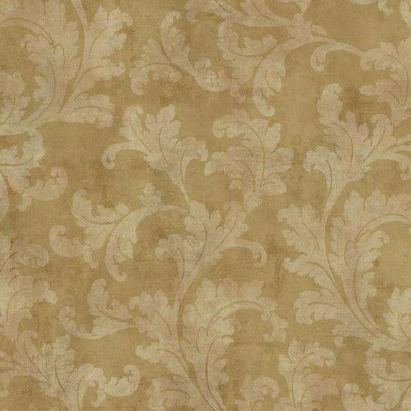 Sample Raised Leaf Velvet Vine Wallpaper in Brass design by York... (37 BRL) ❤ liked on Polyvore featuring home, home decor, wallpaper, leaf home decor, gold leaf wallpaper, leaves wallpaper, velvet wallpaper and gold leaf home decor
