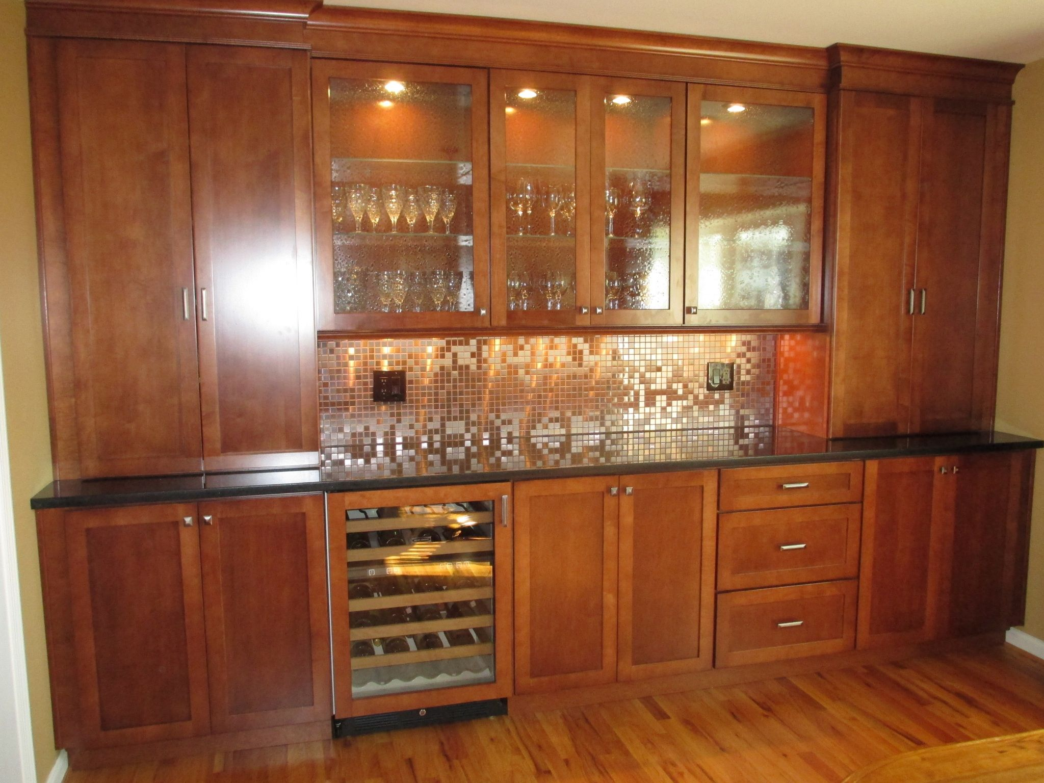 Built in Dining Room Cabinets. Our cabinets are Kraftmaid ...