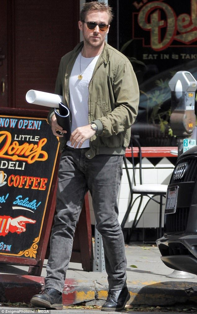 Grand day out  Ryan Gosling was spotted heading off after lunching in Los  Angeles on Tuesday 93b76eba7f87a