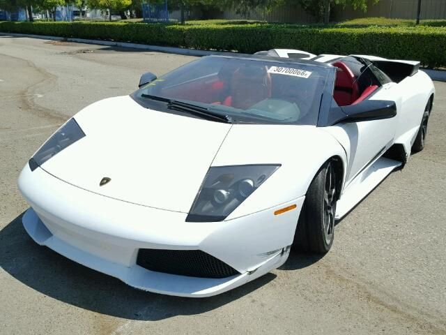 Zhwbu47s18la02677 2008 White Lamborghini Murcielago On Sale In Rancho Cucamonga Ca Lot 30700066 Car Auctions Lamborghini White Lamborghini