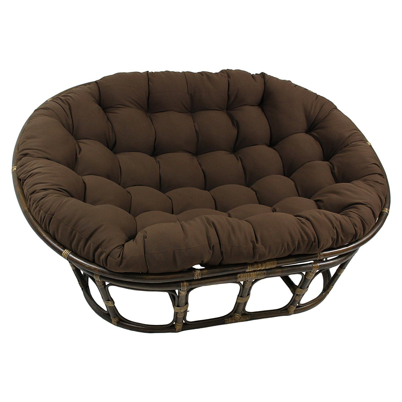 Amazon.com: Blazing Needles Solid Twill Double Papasan Chair ...