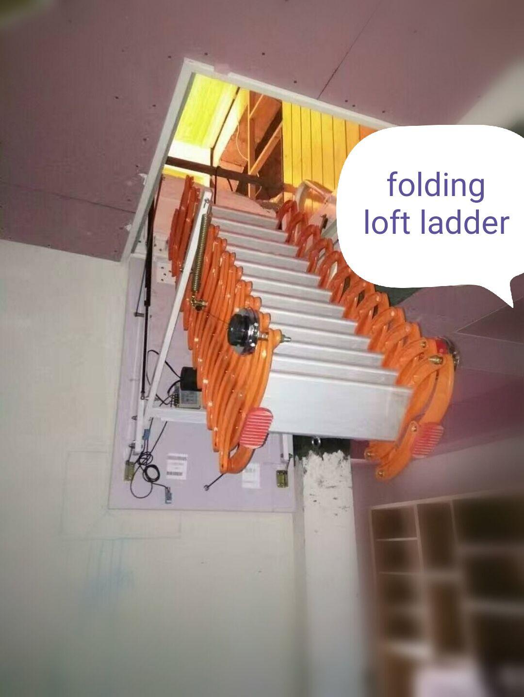 Pin On Titanium Magnesium Alloy Fold Down Attic Ladder
