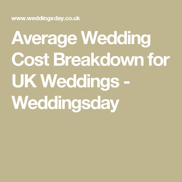 Average Wedding Cost Breakdown.Average Wedding Cost Breakdown For Uk Weddings Weddingsday