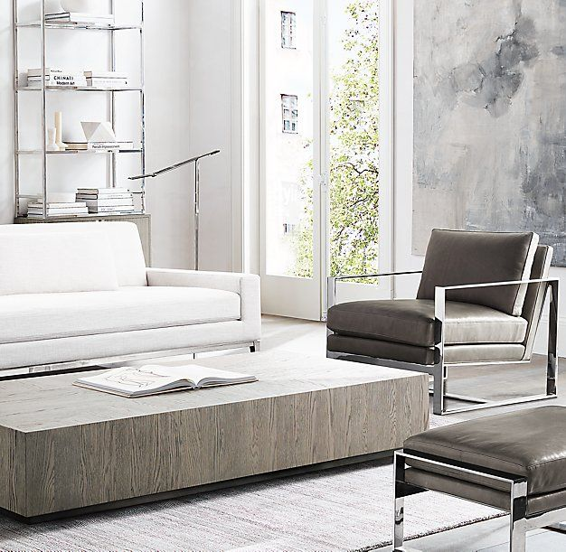 Marvelous RH Modernu0027s Machinto Rectangular Coffee Table:Designed By The Van Thiels,  Our Collection Mixes