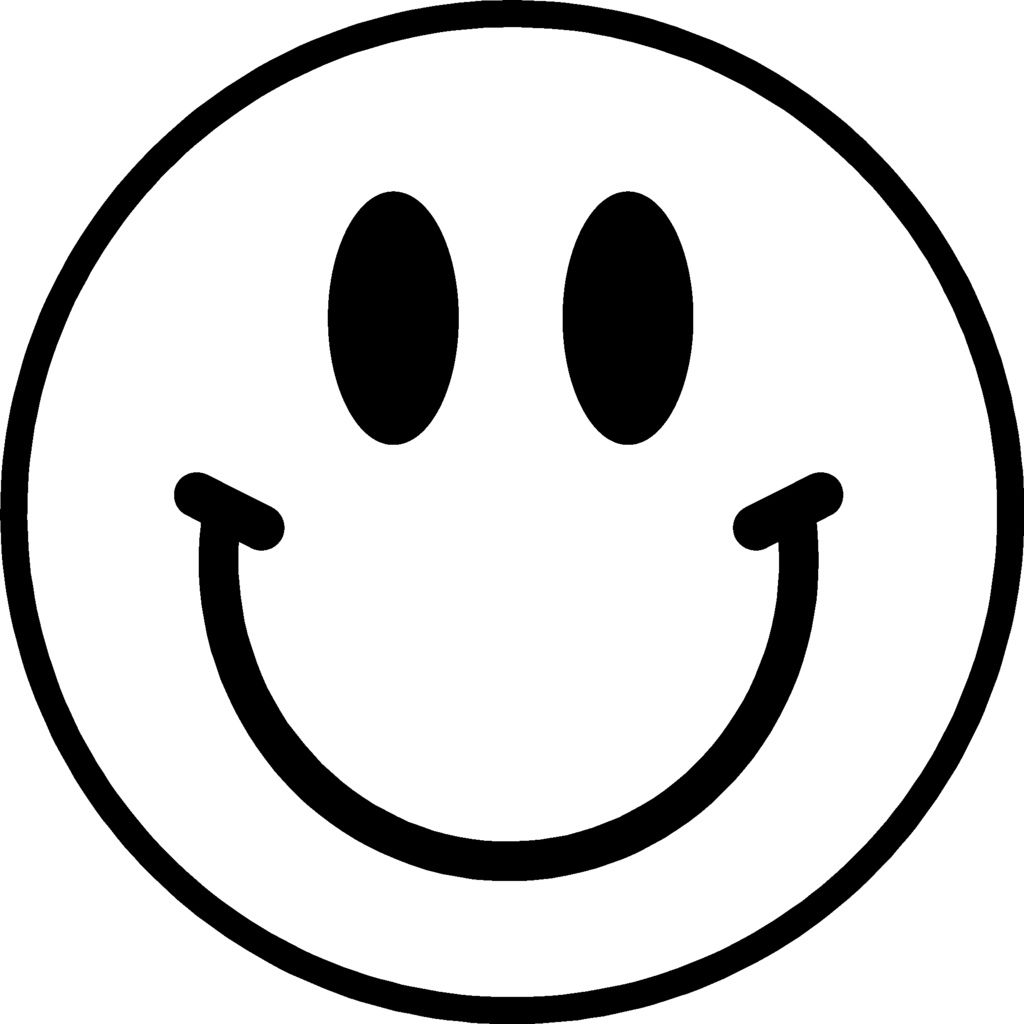 Face Smiley Face Happy Face Clip Art Big Coloring Page ... |Finger Face Happy Coloring