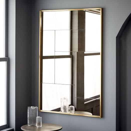 Multi Panel Foxed Mirror West Elm Antique Br 36 X 54 Large 499 Less 20 Is 399