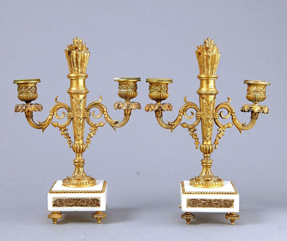Zwei Kerzenleuchter Leuchter Barock Kandelaber Kerzenhalter Kerzenständer Antik