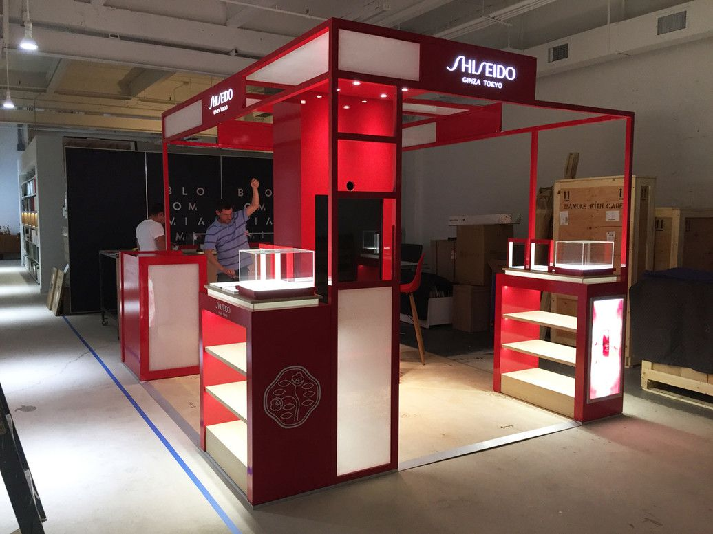 Bloommiami How We Developed Our Latest Shiseido Activation In Only 3 Weeks Booth Design Design Shiseido
