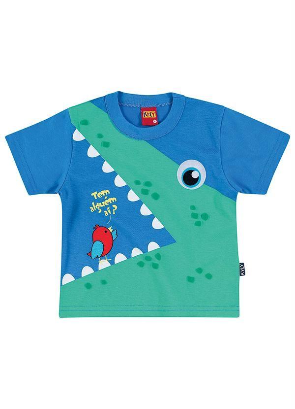 6c3c705e9a Camiseta Infantil Menino Kyly Azul - Posthaus