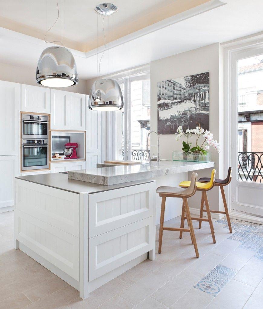 Cocinas Lacadas En Blanco Atemporales Esta Cocina Tiene El  # Budnik Muebles De Cocina