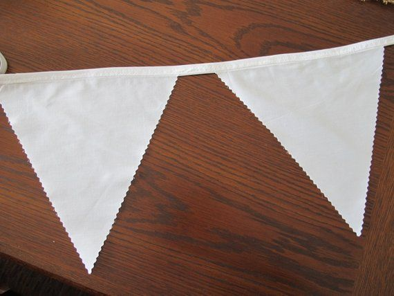 Bunting, pennant, garland, flags : Made to order Plain white