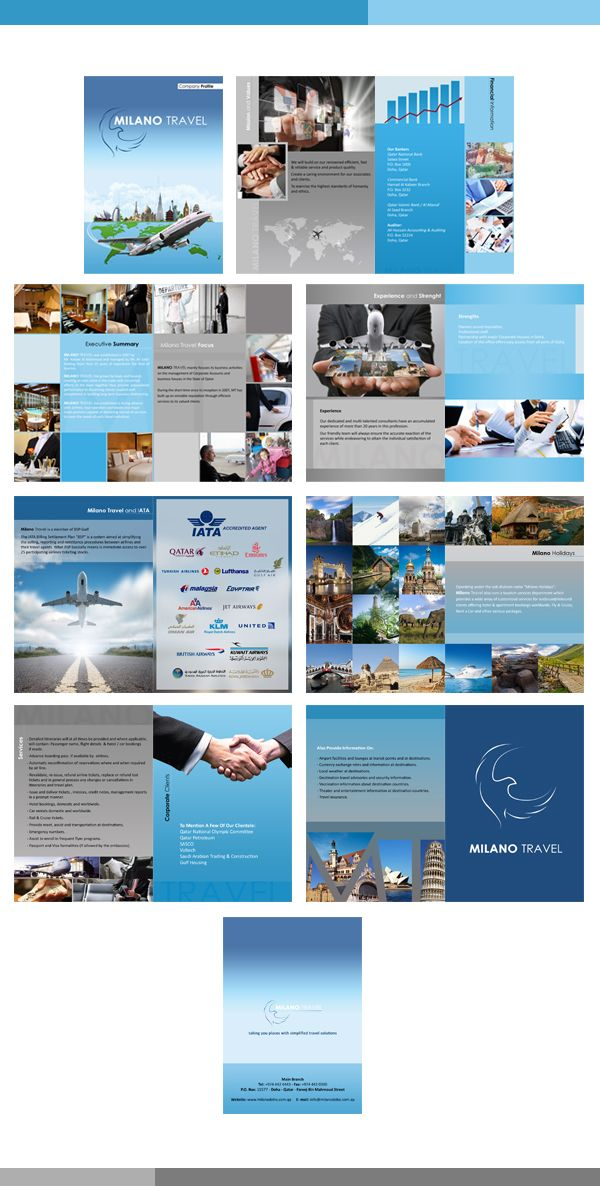 Milano Travel Company Profile Brochure By Wafa Mohammed Via