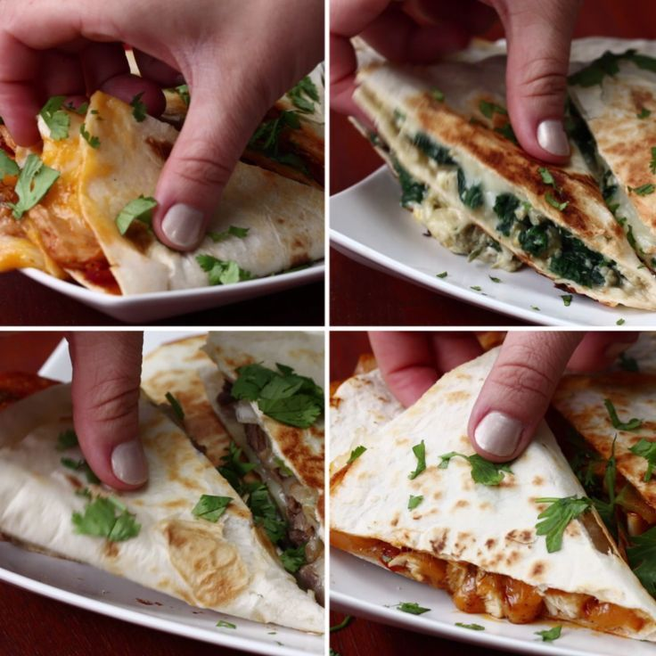 quesadillas 4 ways pinterest essen tortilla rezept und leckeres essen. Black Bedroom Furniture Sets. Home Design Ideas
