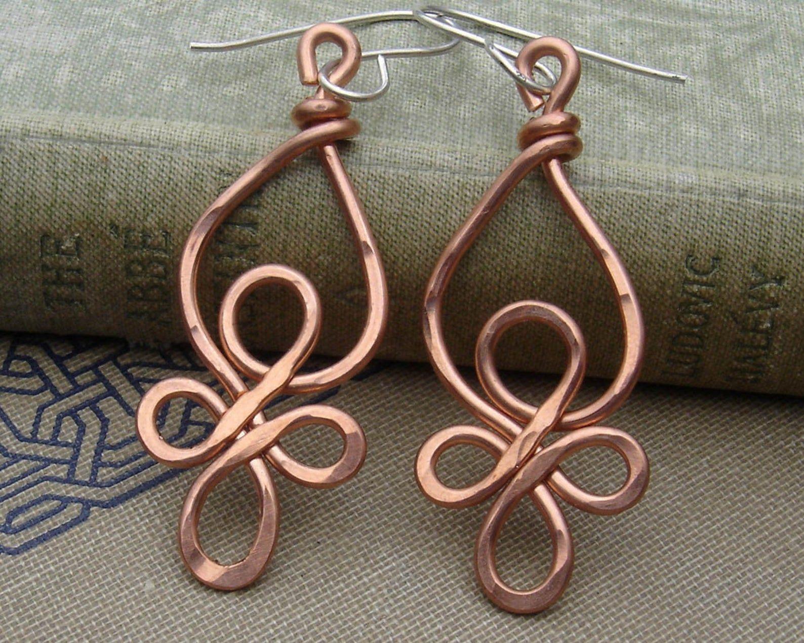 8 Gauge Copper S Earrings