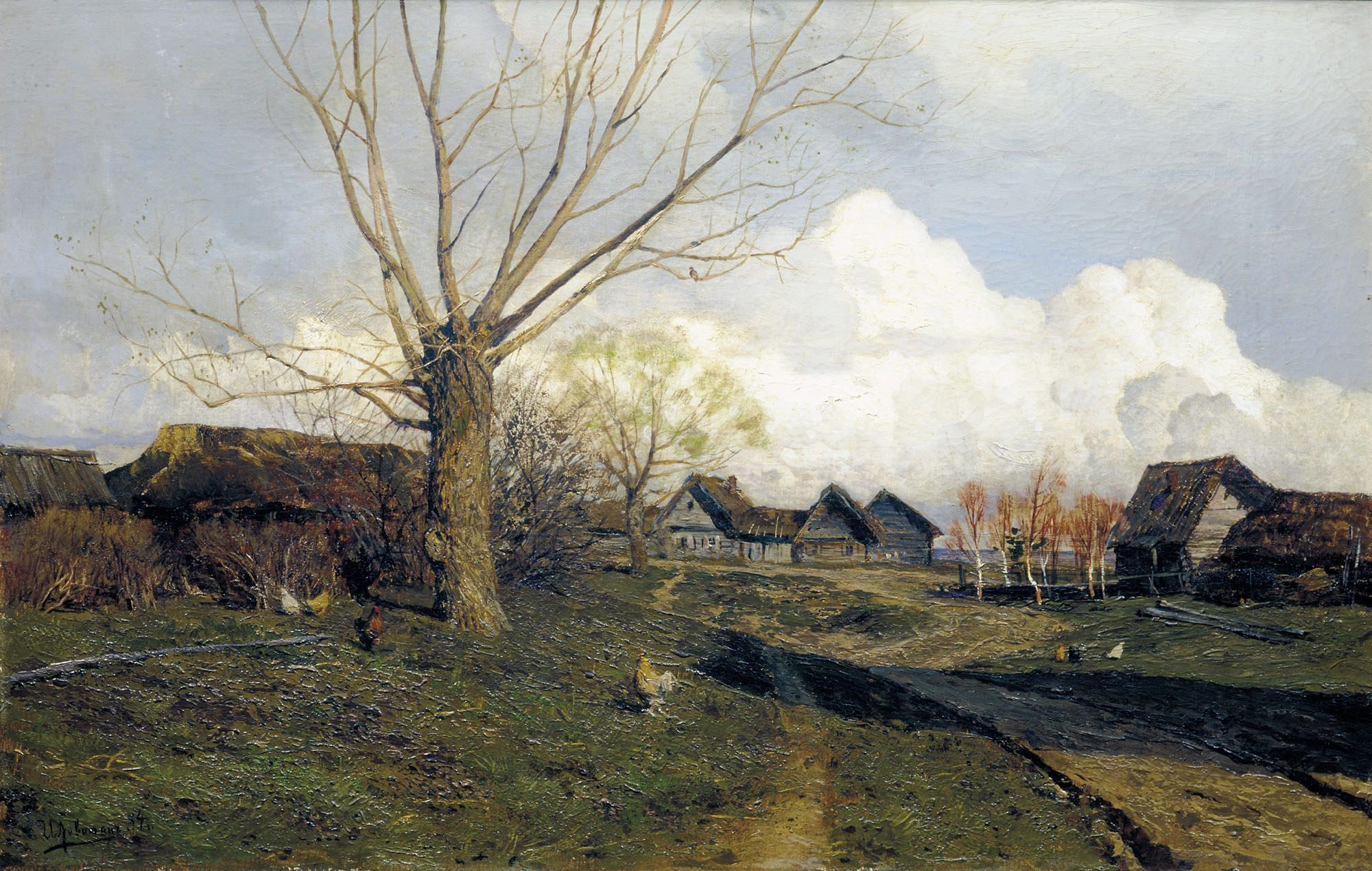 Picture Levitan Spring. High water or Edge, reminiscent of paradise 22