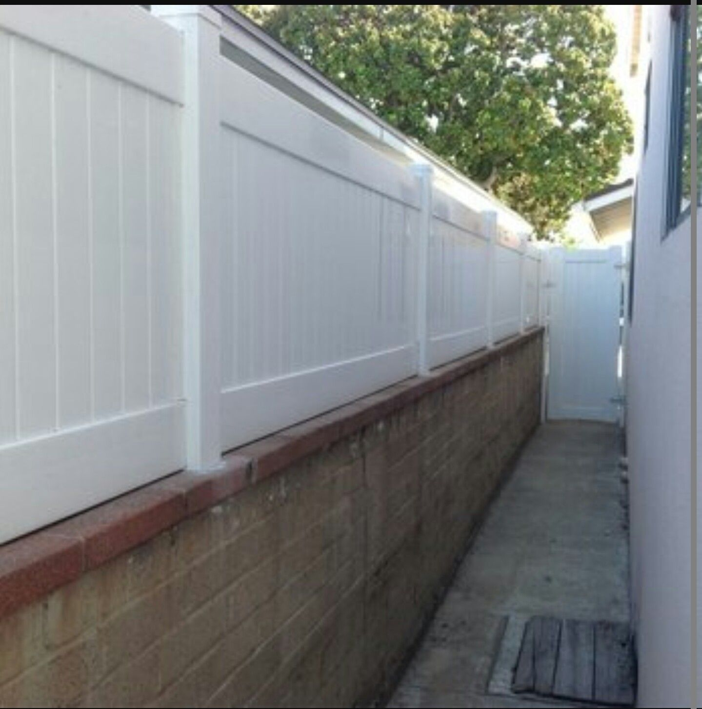 Block Wall Fence Toppers Brick Fence Front Yard Fence