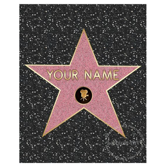 WALK OF FAME Star Walk Of Fame Poster Hollywood Party Movie Night Decorations Printable Digital File