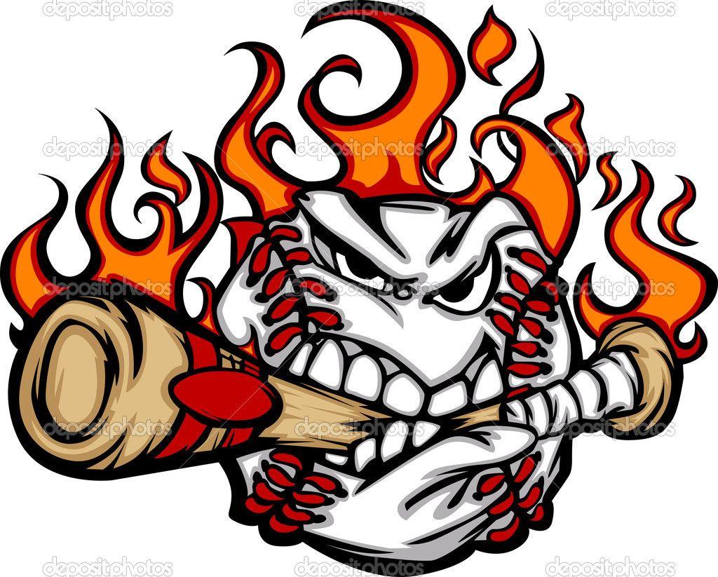baseball ball vector depositphotos 6769926 baseball flaming face