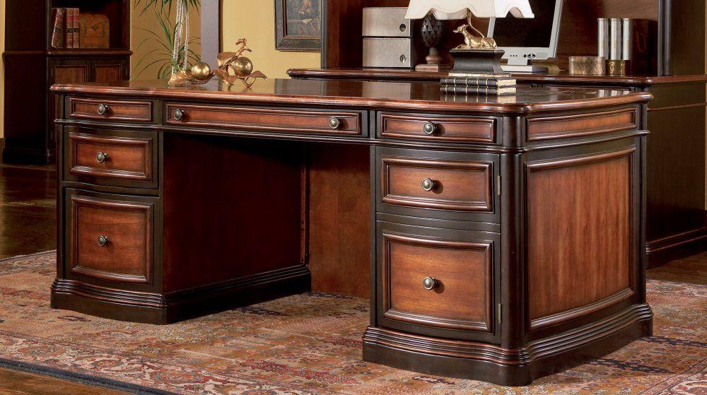 Desk In Cappuccino Dark Oak Coaster 800511 Italian Office