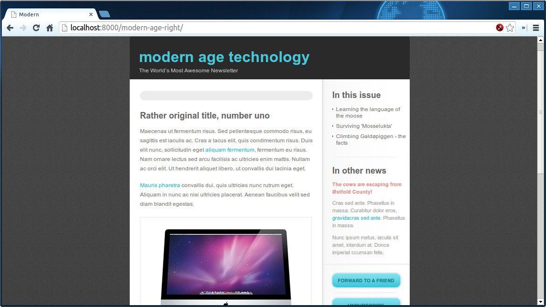 Modern Age an Apple flavored design Modern, Free html