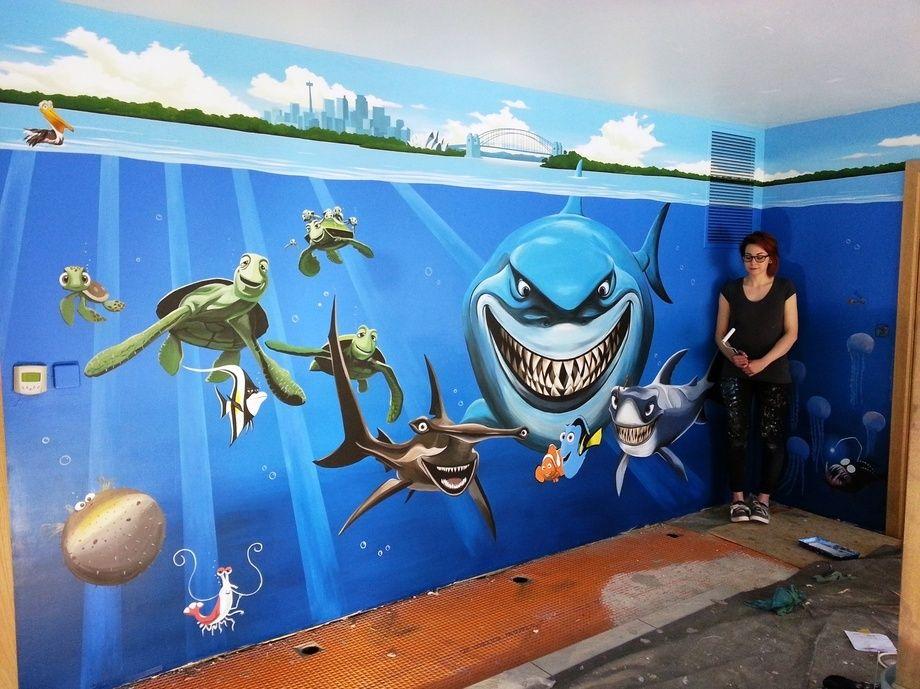 Finding Nemo Swimming Pool Mural Mural Kid Swimming
