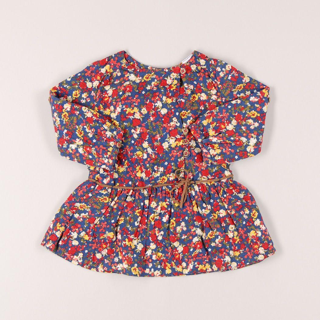 Vestido con manga larga estampado flores de marca Zara. Talla 6 meses. 5,95€ #modainfantil http://www.quiquilo.es/catalogo-ropa-segunda-mano/vestido-con-m-larga-estampado-flores-de-marca-zara-en-color-azul.html