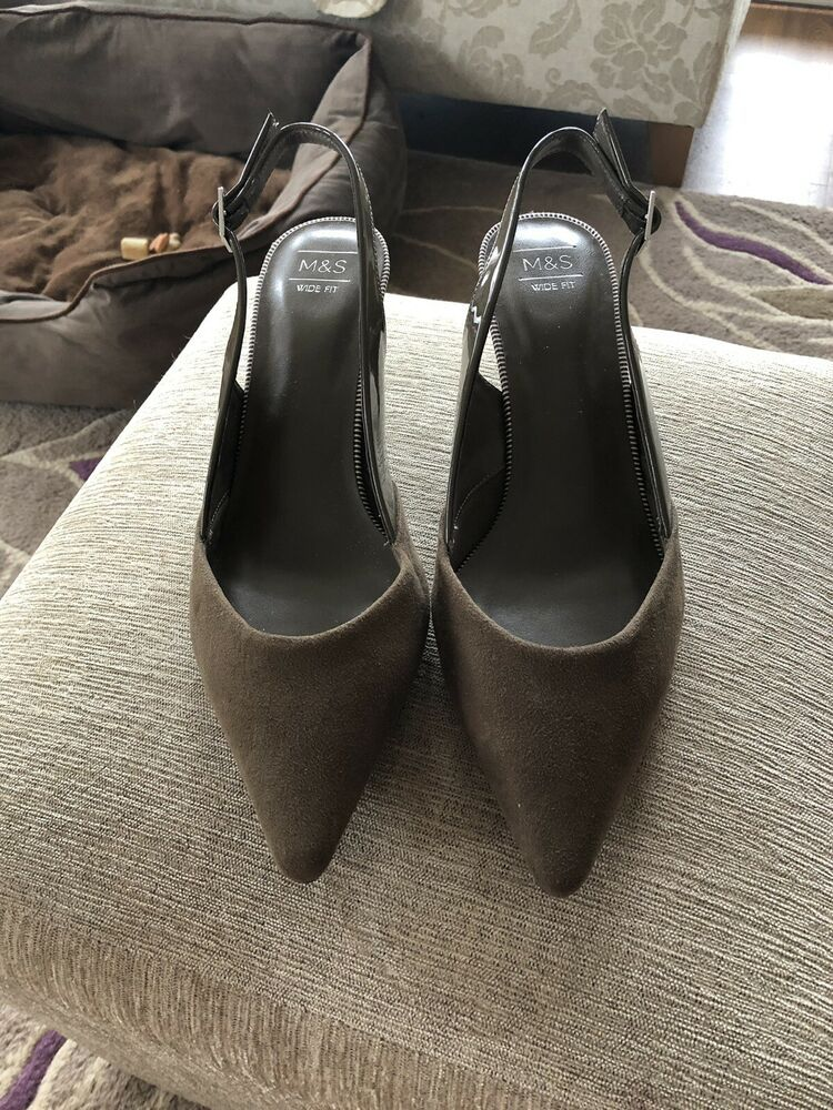 508bf19820 Sling Back M &S Khaki Kitten Heels - Kitten Heels from Ebay UK - # KittenHeels #heels 10.00 End Date: Sunday Apr-28-2019 9:46:30 BST Buy It  Now for only: ...