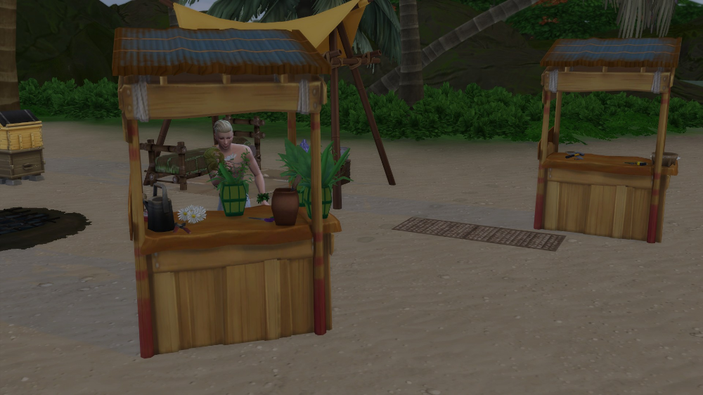 Mod The Sims Castaways Flower Craft Table in 2020