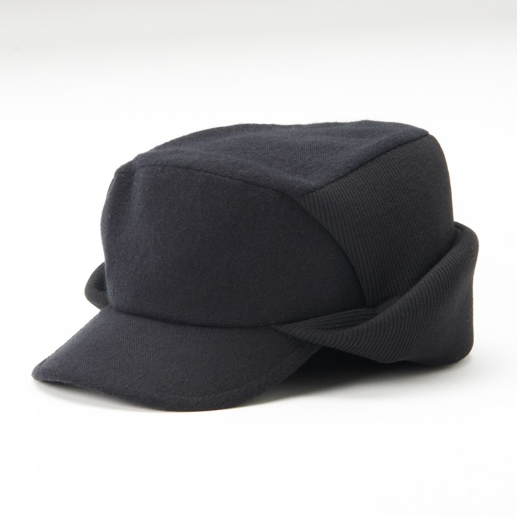 c239b1b04f569 Dockers Mens Hat ear flap cadet cap black wool polyester size S-M L-XL NEW