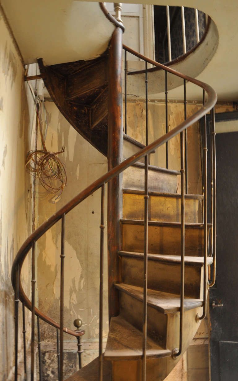 Antique Spiral Staircase 19th Century Front Yard And