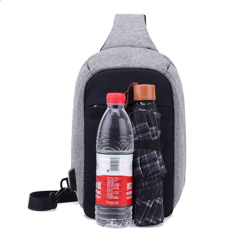 73044903704 Rusoonnic Canvas heren borst pack Anti-diefstal enkele schouderriem  Crossbody tassen voor vrouwen Sling schoudertas