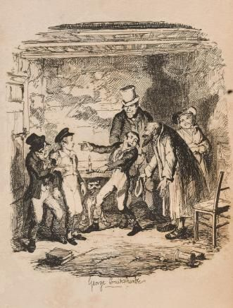 Illustration By George Cruikshank From The First Edition Oliver