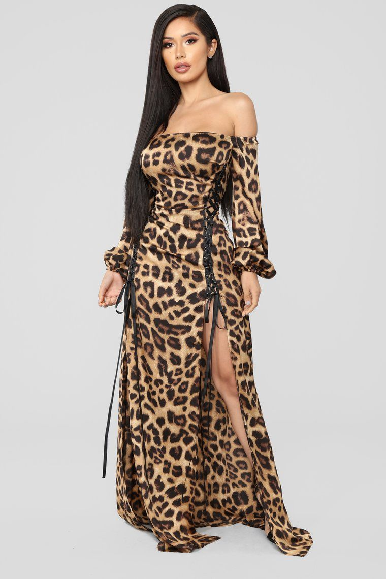 aa35f8e1a17c The Animal Within Off Shoulder Dress - Brown in 2019
