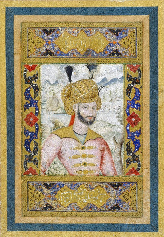 Medium: Watercolor and gold on paper  Dates: 17th century  Dynasty: Safavid  Period: Safavid  Dimensions: 9 3/4 x 6 1/2 in. (24.8 x 16.5 cm) Image: 4 7/8 x 3 3/4 in. (12.4 x 9.5 cm) (show scale)  Accession Number: 73.167.1  Brooklyn Museum