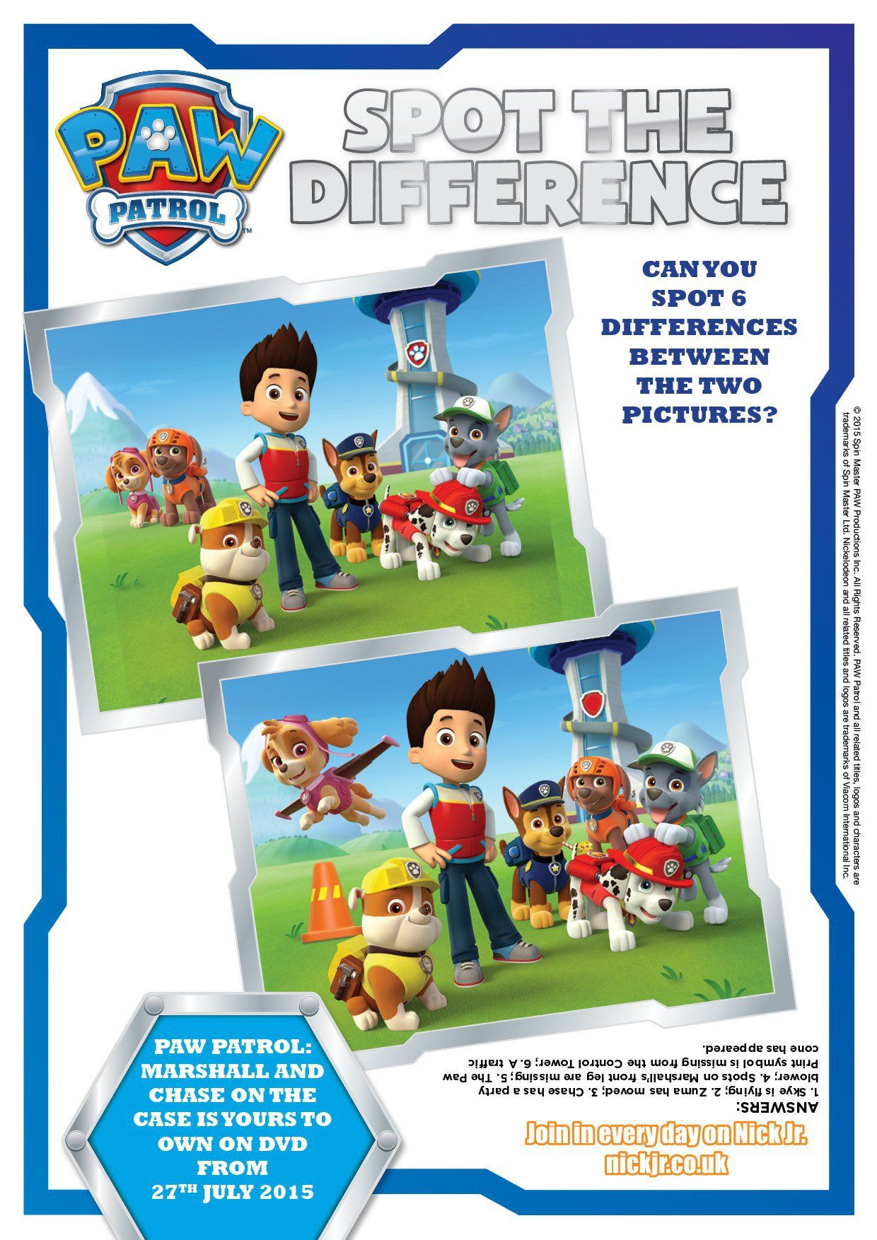 Paw patrol colouring pages and activity sheets paw patrol