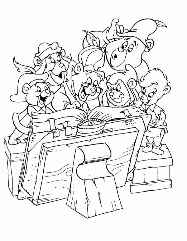 gummi bears coloring pages 13