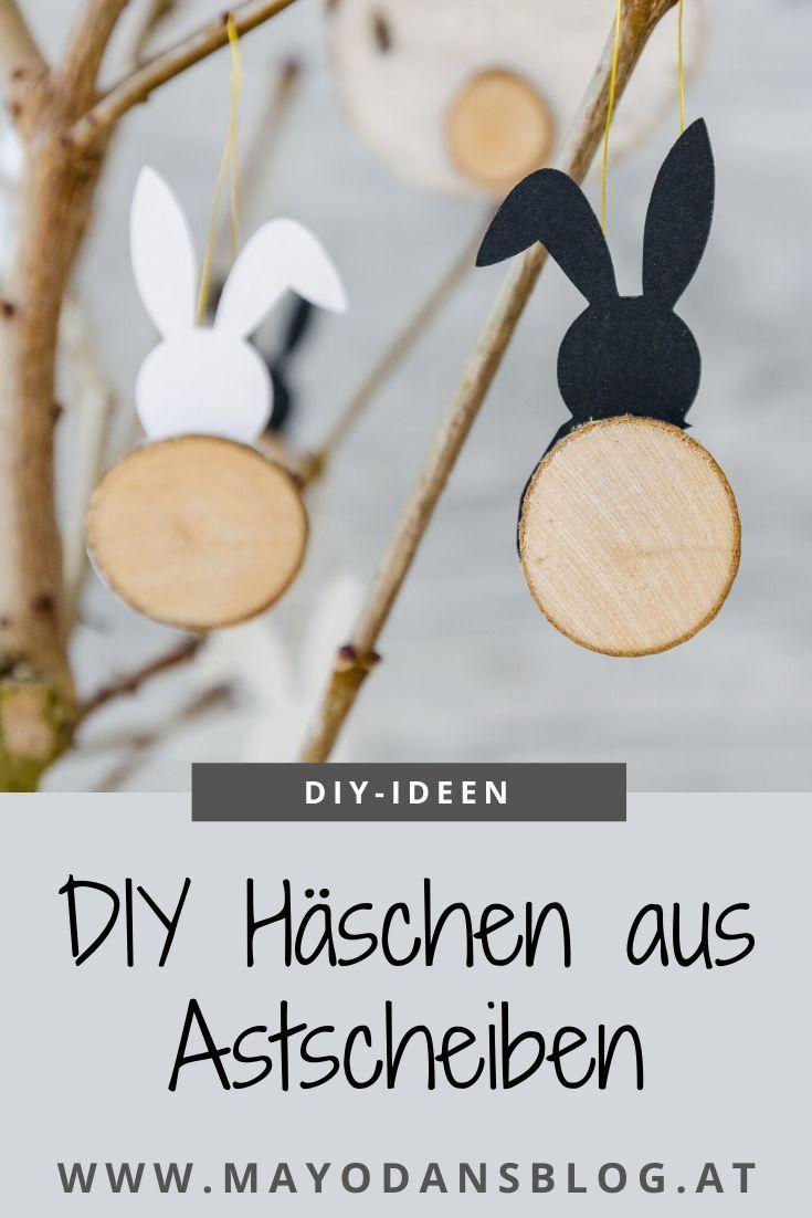 DIY Hase aus Astscheiben