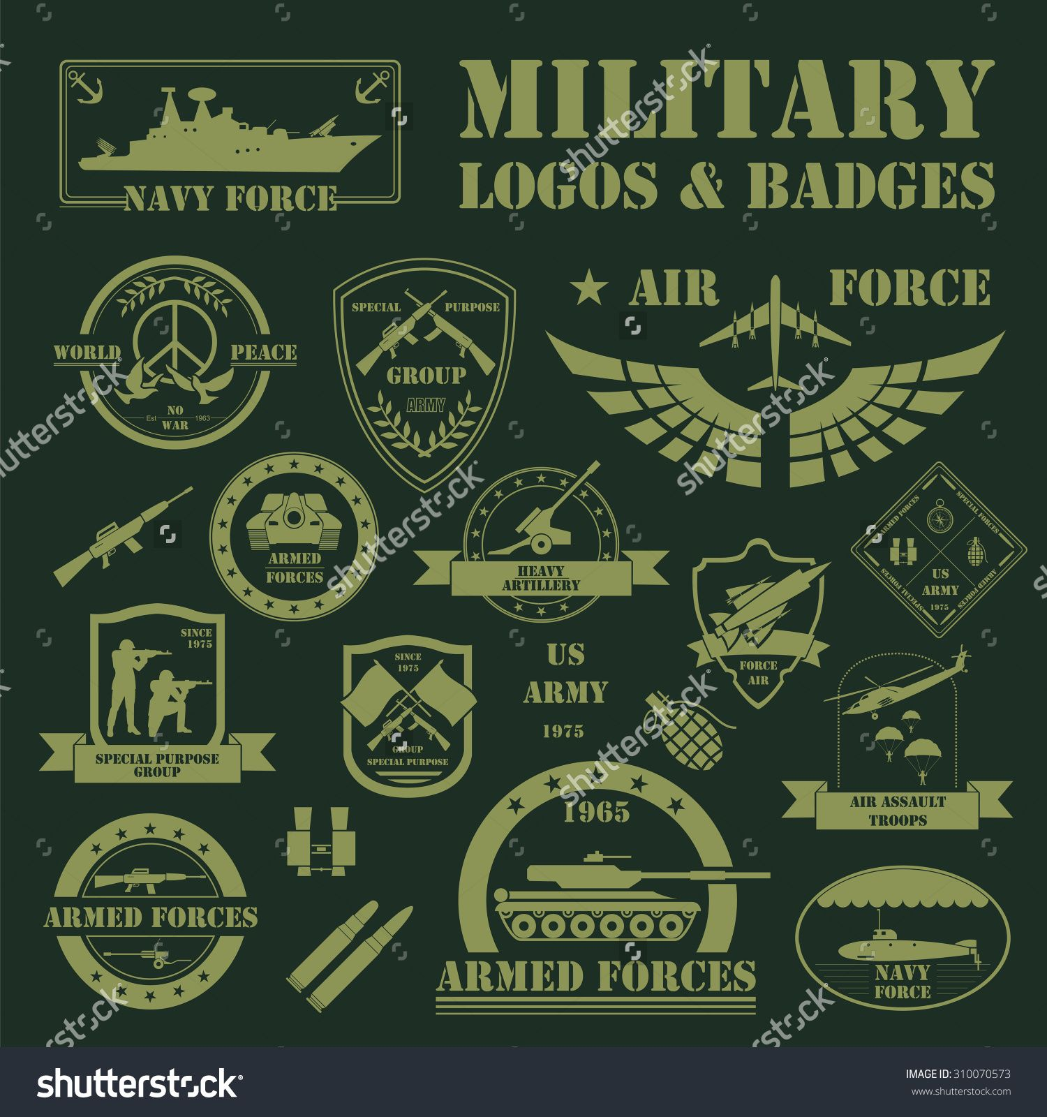 stock-vector-military-and-armored-vehicles-logos-and-badges-graphic ...