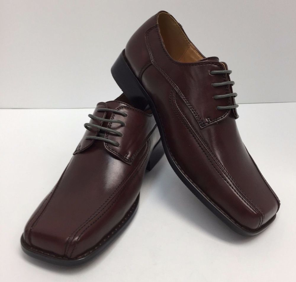 Boys brown dress shoes with laces miralto k011brwc man