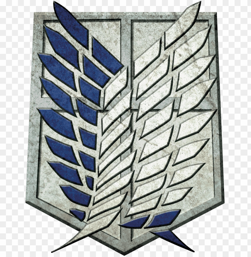 Attack On Titan Survey Corps Logo By King Of Craziness Attack On Titan Logo Png Image With Transparent Background Png Free Png Images In 2021 Survey Corps Logo Attack