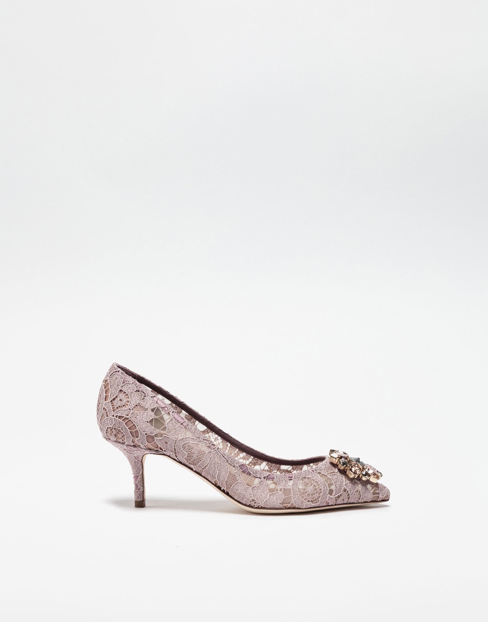 Pump In Taormina Lace With Crystals Women Dolce Gabbana Dolce And Gabbana Pumps Dolce Gabbana Online