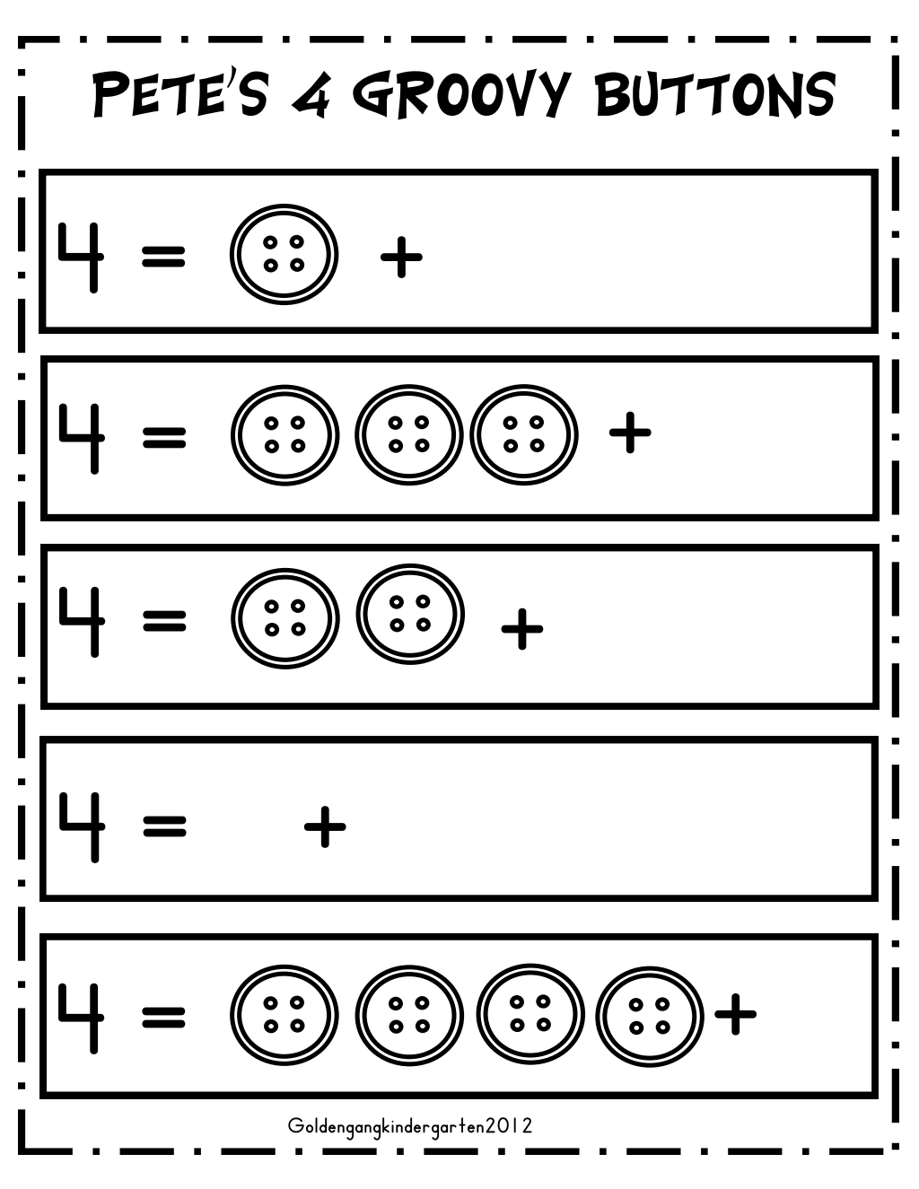 4 buttons.pdf Google Drive Pete the cat