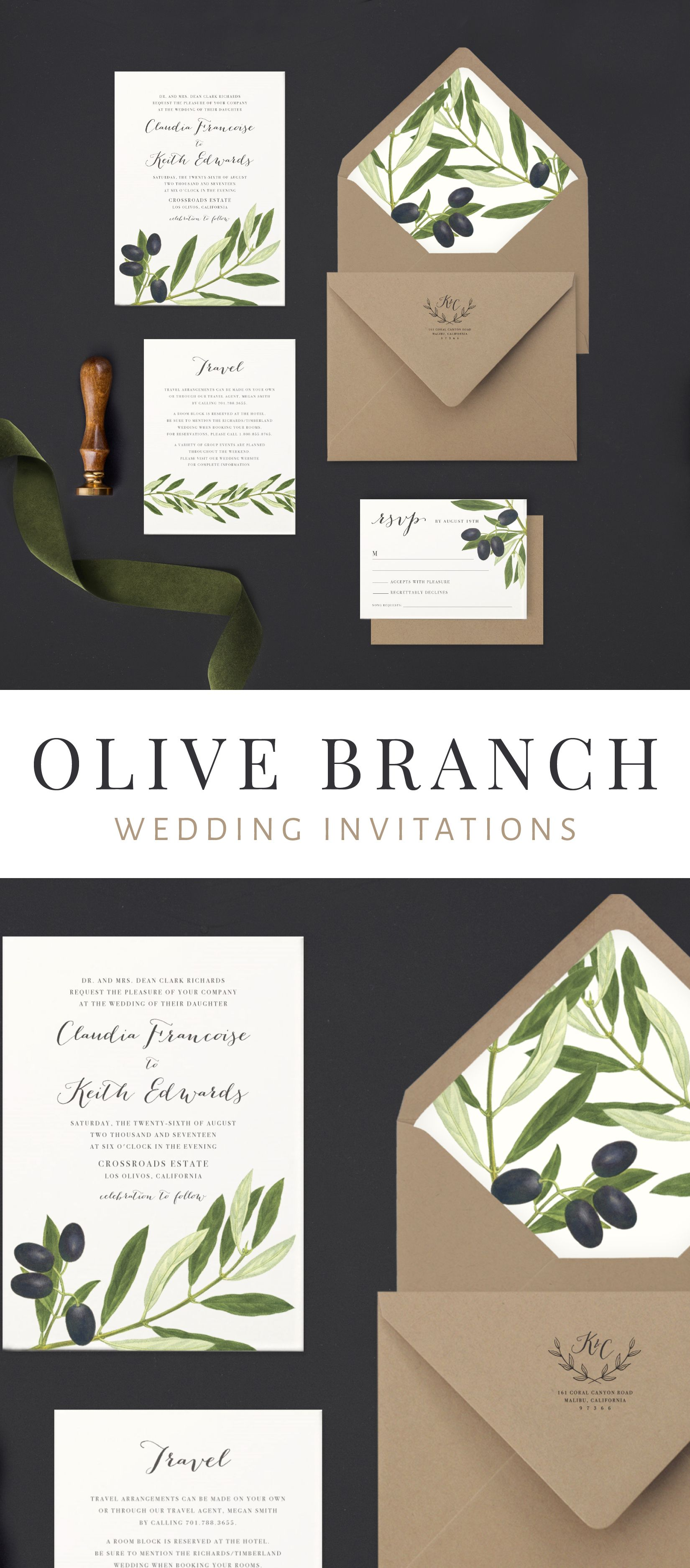 fun modern wedding invitations%0A A modern and elegant organic inspired wedding invitation  clean  but full  of creativity  perfect to get your guests ready for your mediterranean  themed