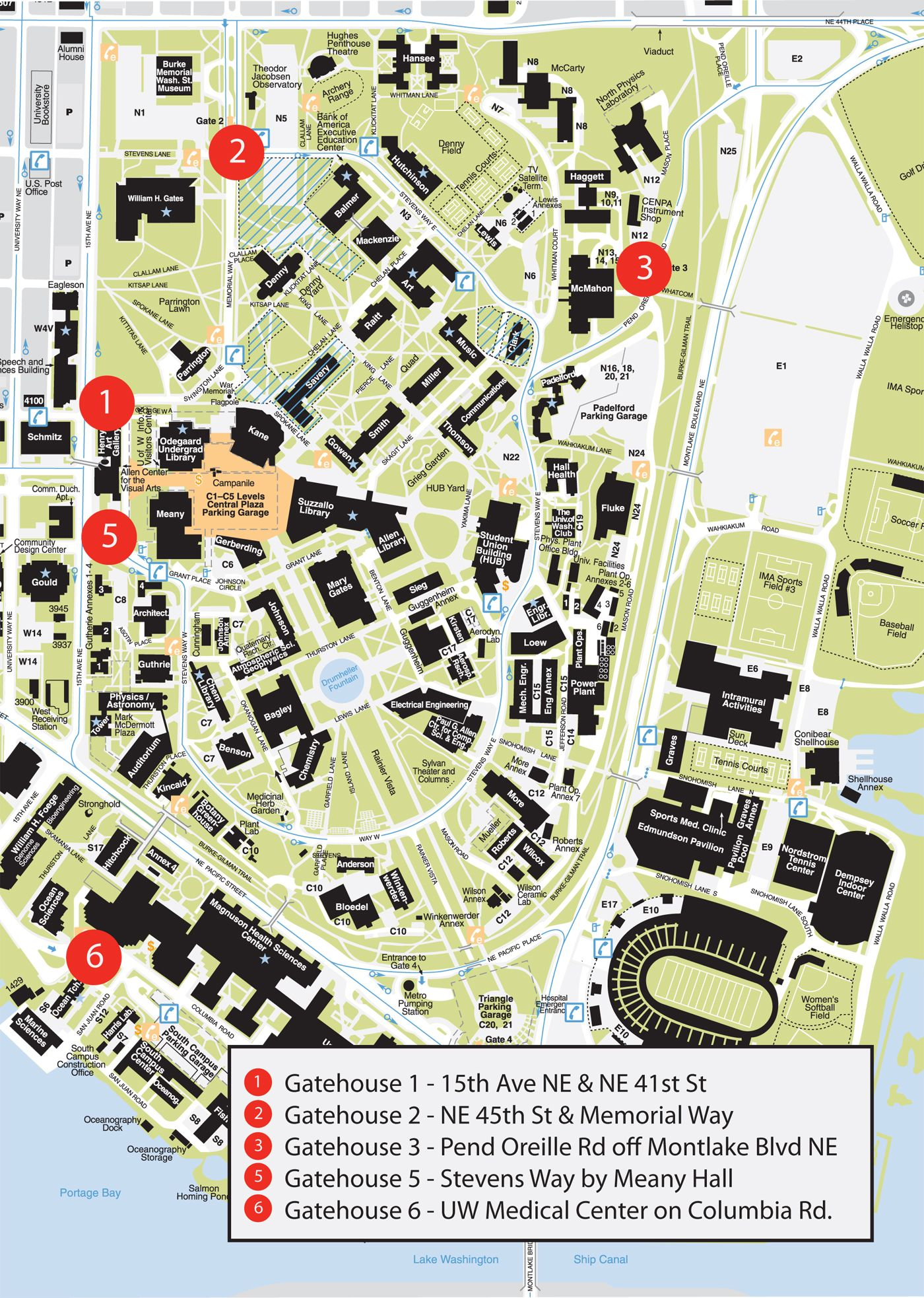 Uw Seattle Campus Map : seattle, campus, Campus,, Underground, Garage, Square