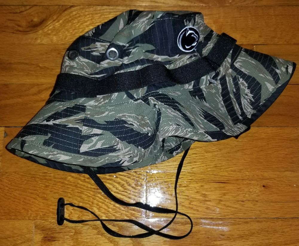 8317680832a49 RARE NIKE PENN STATE Camo Bucket HAT S M mens camouflage baseball football  psu  fashion  clothing  shoes  accessories  mensaccessories  hats