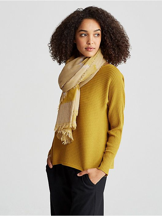a13b44eea88 Eileen Fisher sweater and scarf