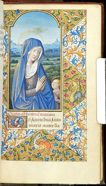 Book of Hours, MS M.1054 fol. 20r - Images from Medieval and Renaissance Manuscripts - The Morgan Library & Museum