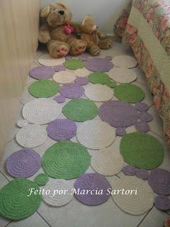 из остатков пряжи - marcia sartori crochetando